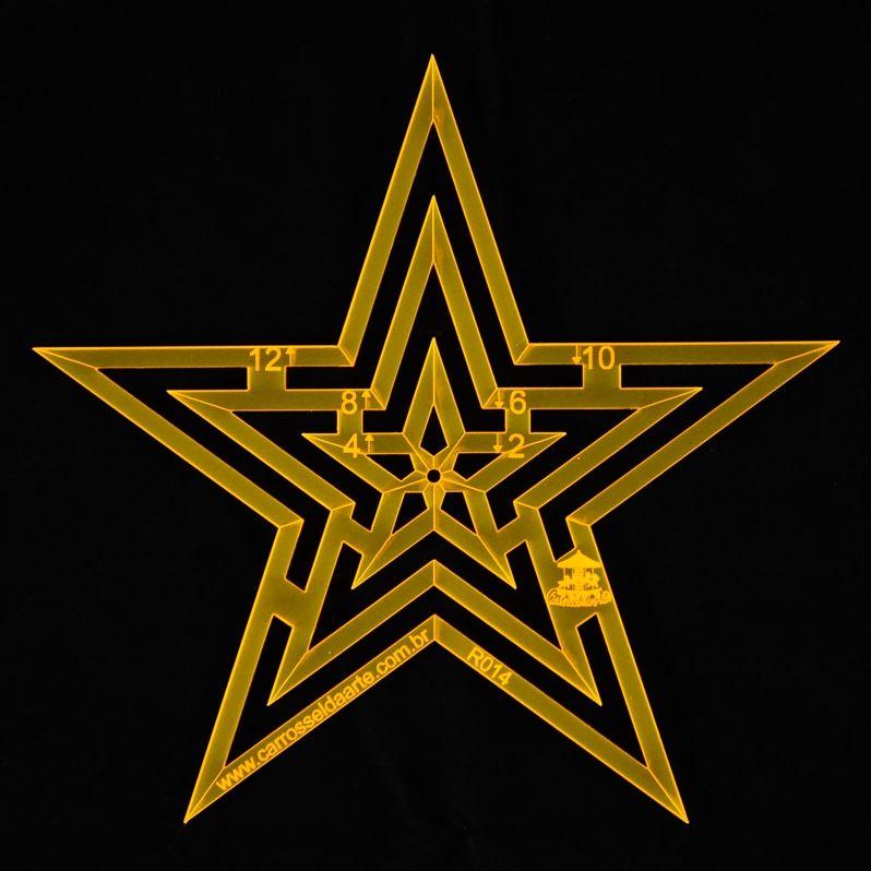 Régua para Patchwork Estrela 12cm