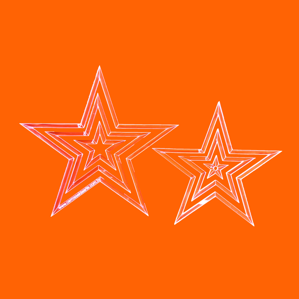 Régua Patchwork Estrela 12cm - Cristal