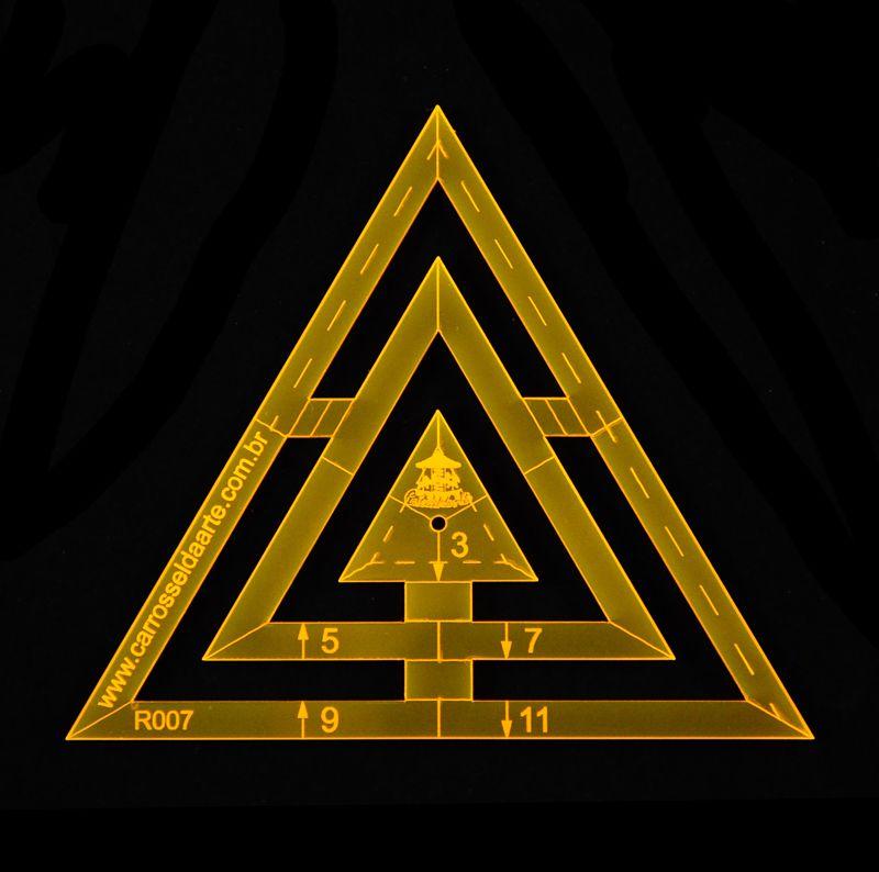 Régua para Patchwork Triângulo 11cm