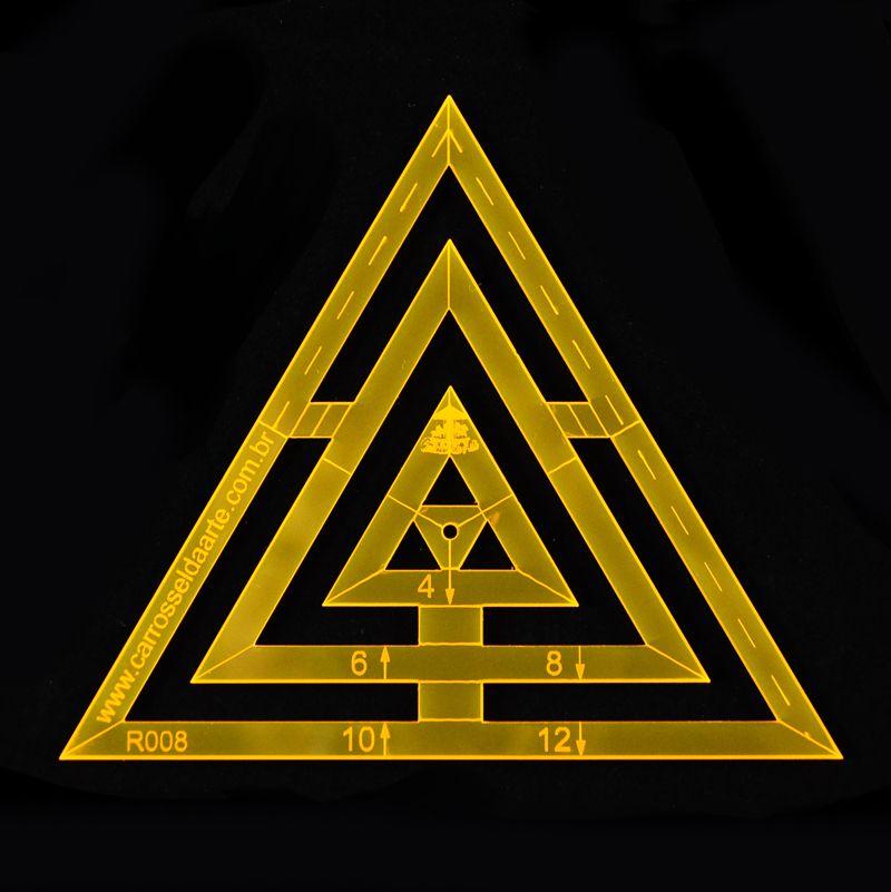 Régua para Patchwork Triângulo 12cm