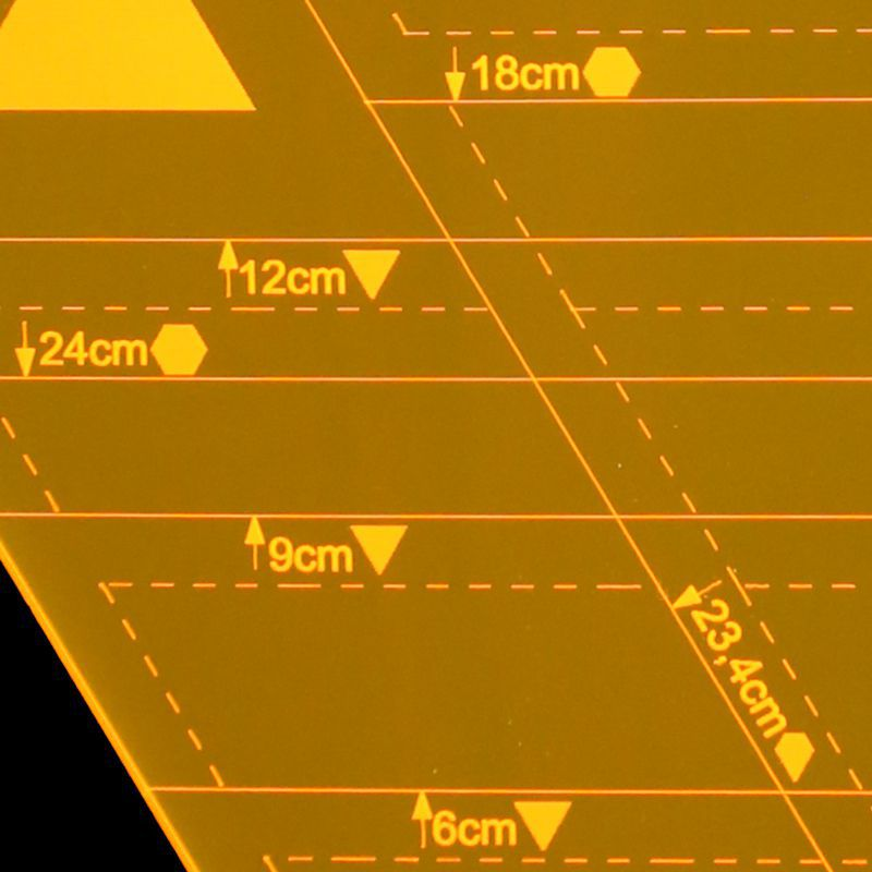 Régua para Patchwork  Triangulo - Hexágono - Diamante