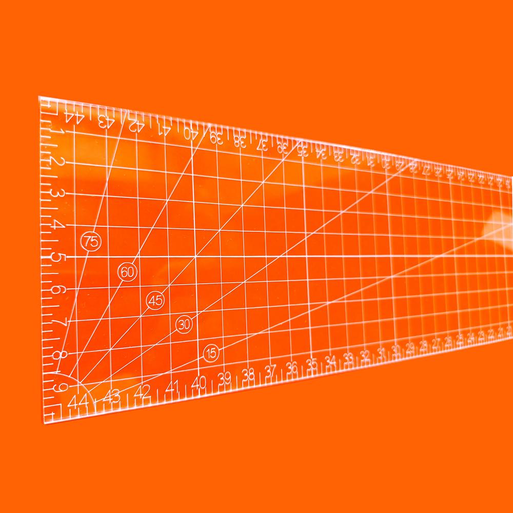 Régua Patchwork 10x45cm - Cristal