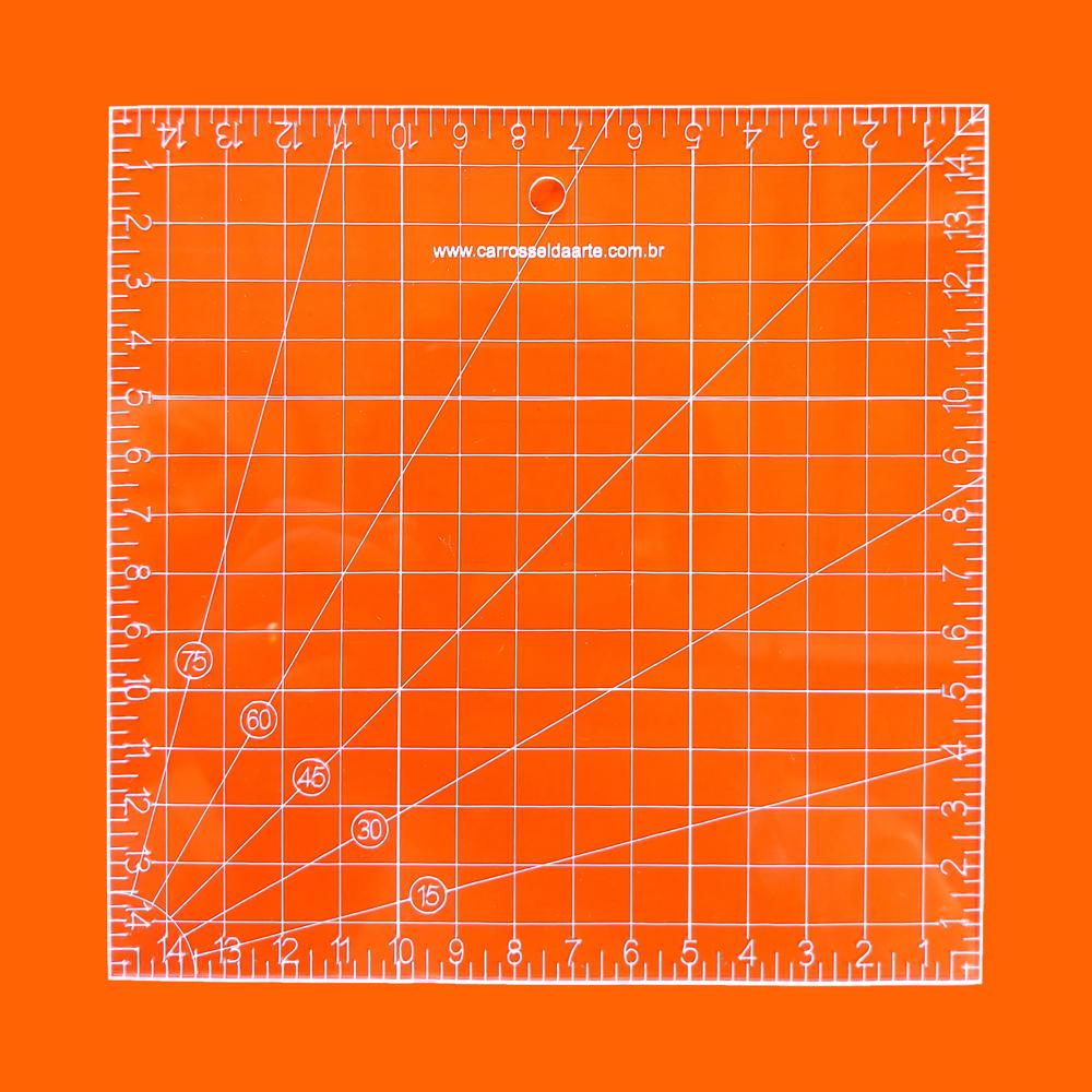 Régua Patchwork 15x15cm - Cristal