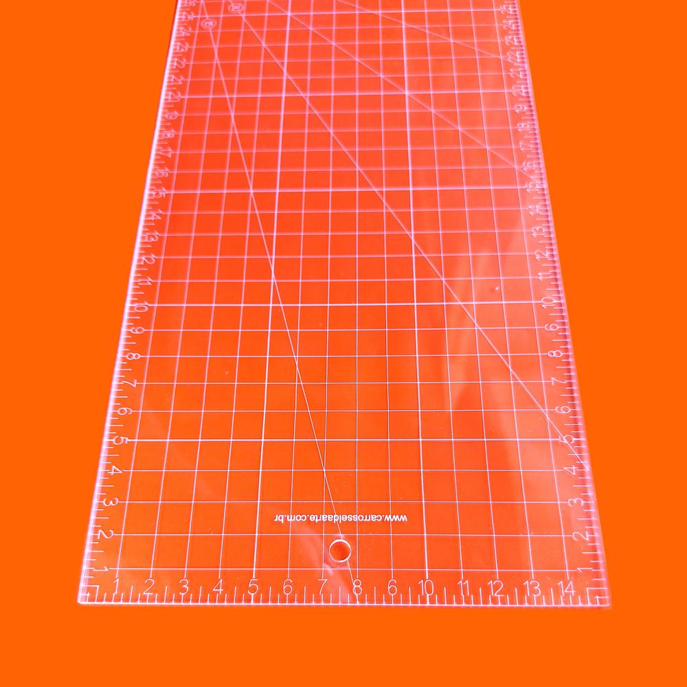 Régua Patchwork 15x45 - 45° - Cristal