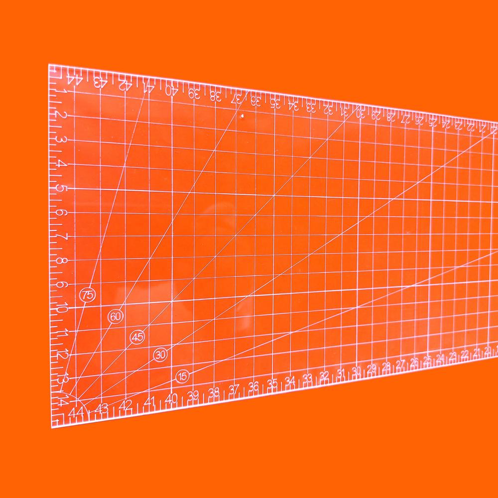 Régua Patchwork 15x45cm - Cristal