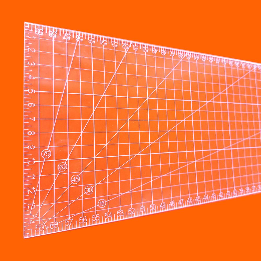 Régua Patchwork 15x60cm - Cristal