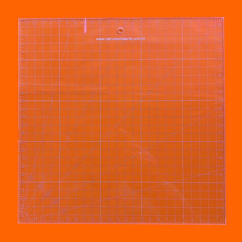 Régua Patchwork 25x25cm - Cristal