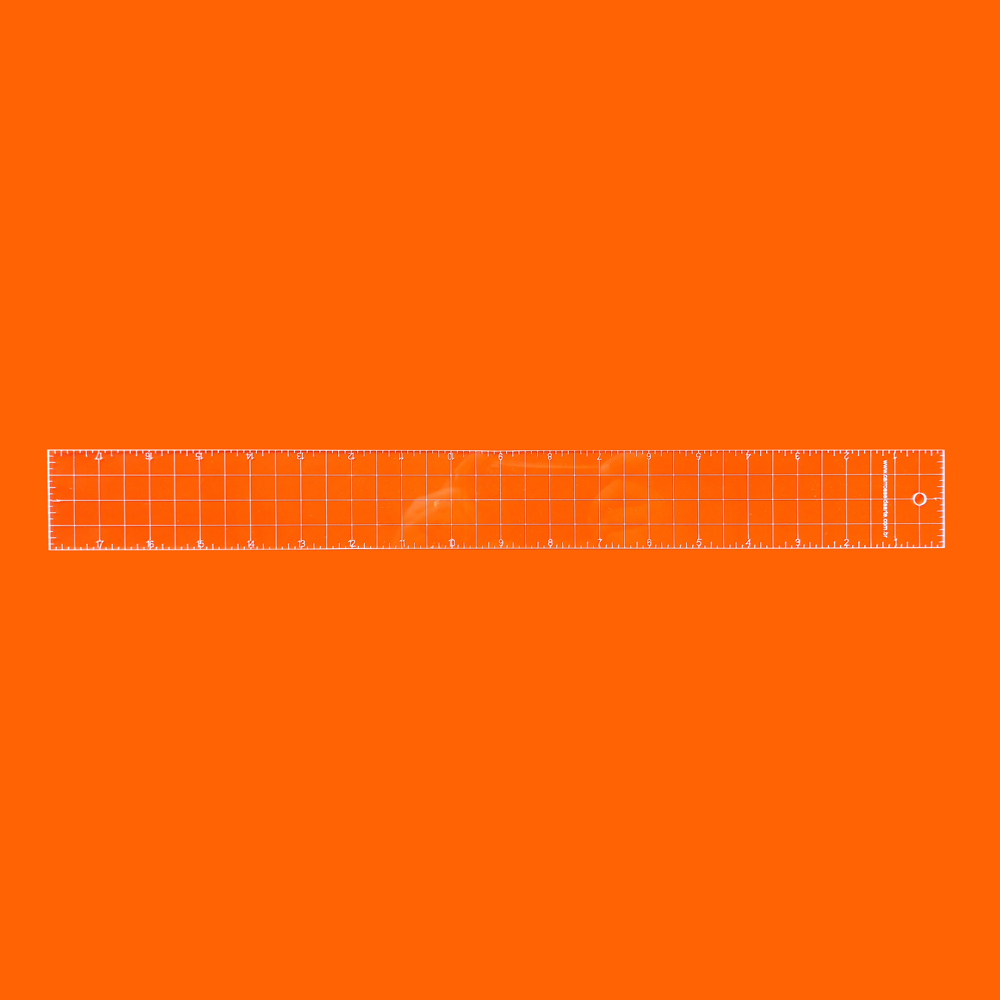 Régua Patchwork 2x18 Polegadas  - Cristal