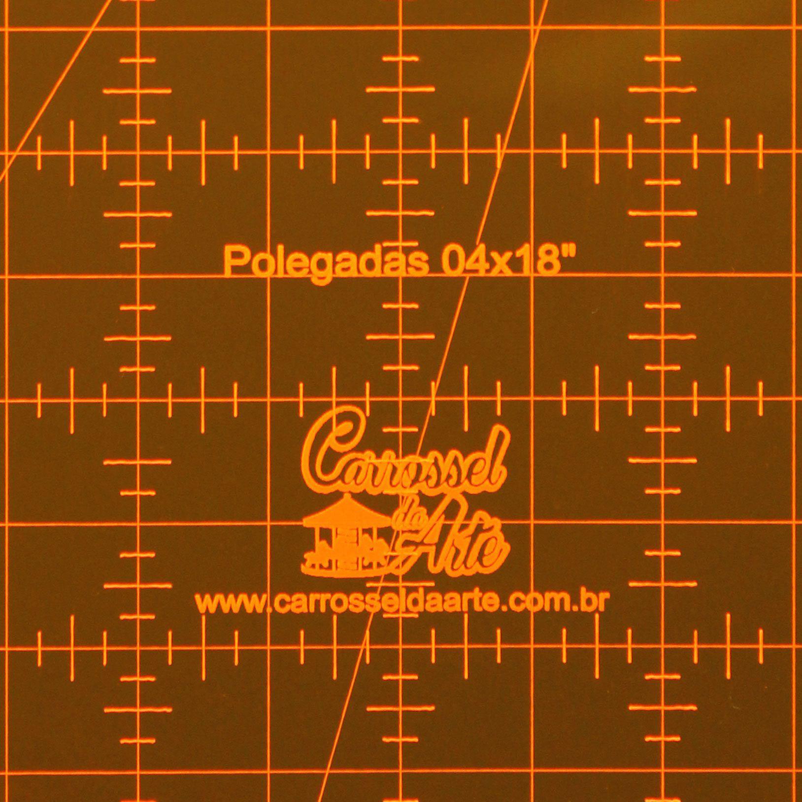 Régua Patchwork 4x18 Polegadas