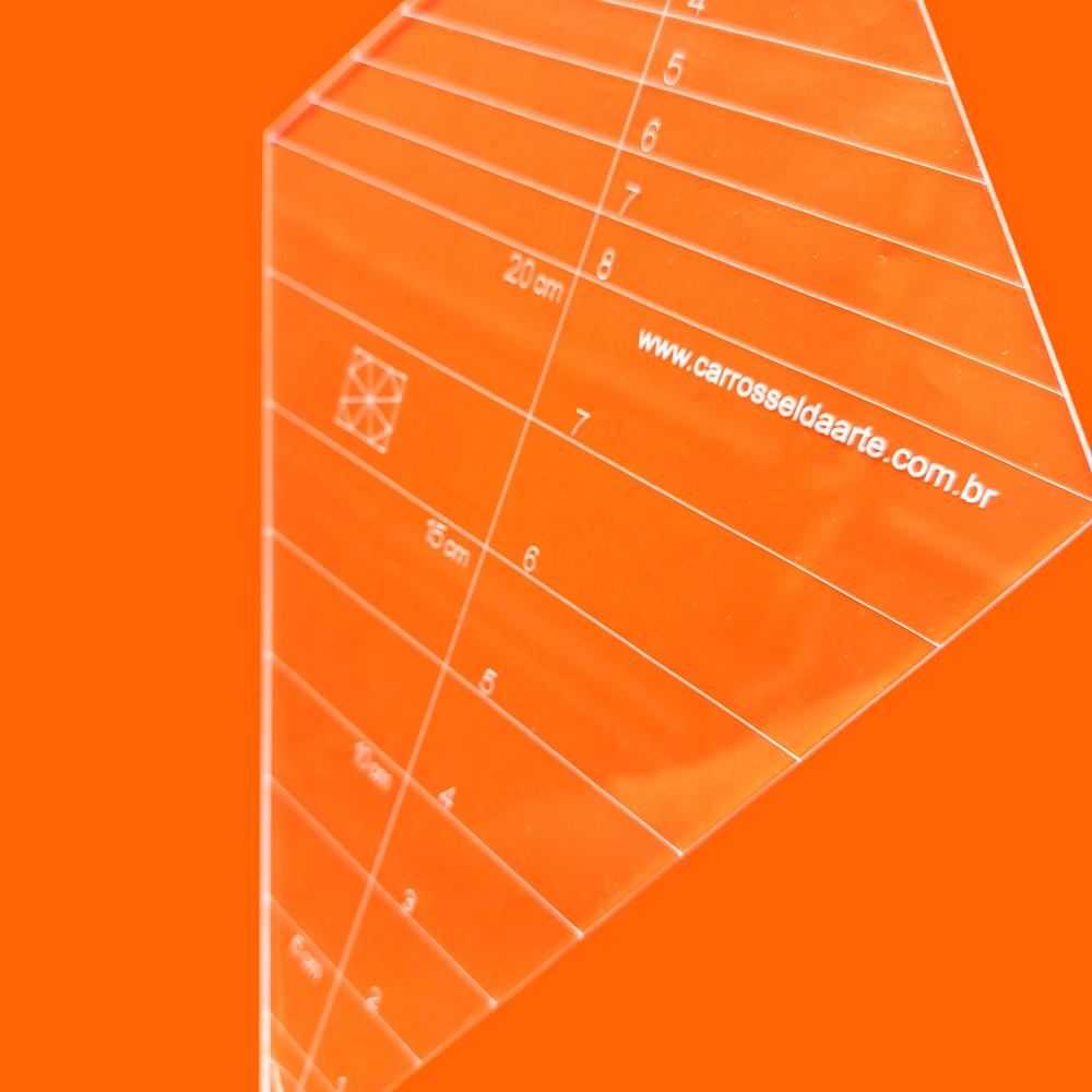 Régua Patchwork Caleidoscópio 45° - Cristal
