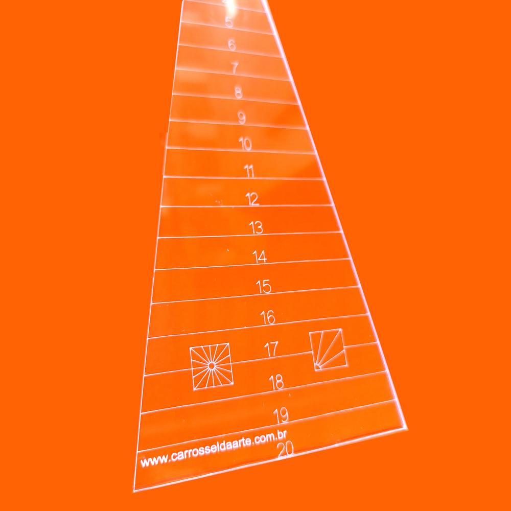 Régua Patchwork Dresden 20º centímetro - Cristal