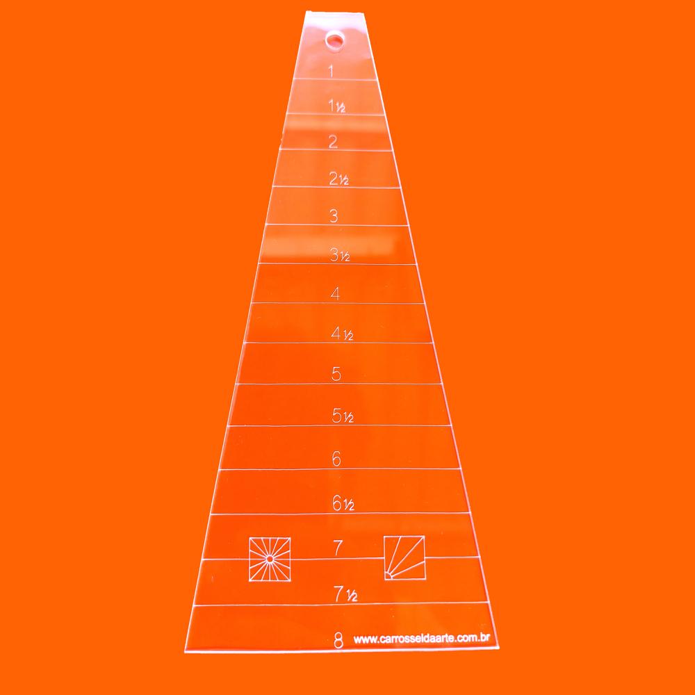 Régua Patchwork Dresden 20º polegada - Cristal