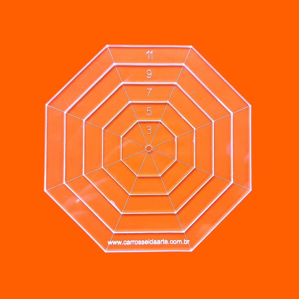 Régua Patchwork Octógono 11cm - Cristal