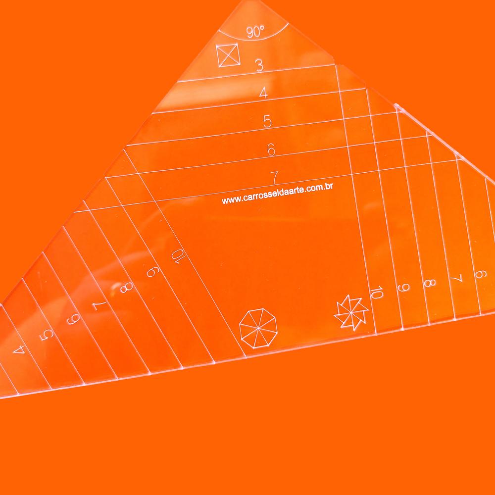 Régua Patchwork Triângulos Mod2 - Cristal