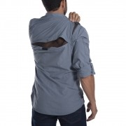 Camisa técnica Hard Safari UV50+ Cinza Azulado Hard Adventure
