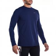 Camiseta UV Hard Adventure SolarPro Manga Longa Masculina Azul Marinho
