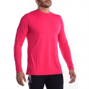 Camiseta UV Hard Adventure SolarPro Manga Longa Masculina Rosa