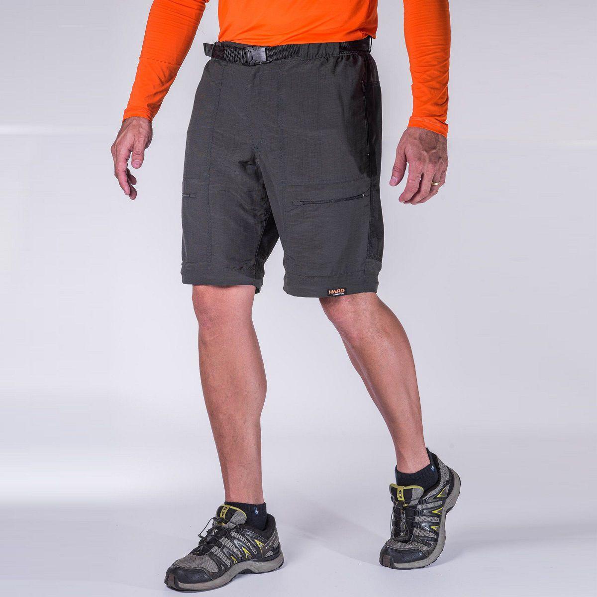Calça-Bermuda Masculina reforçada com Cordura Hard Pro Mountain - Chumbo