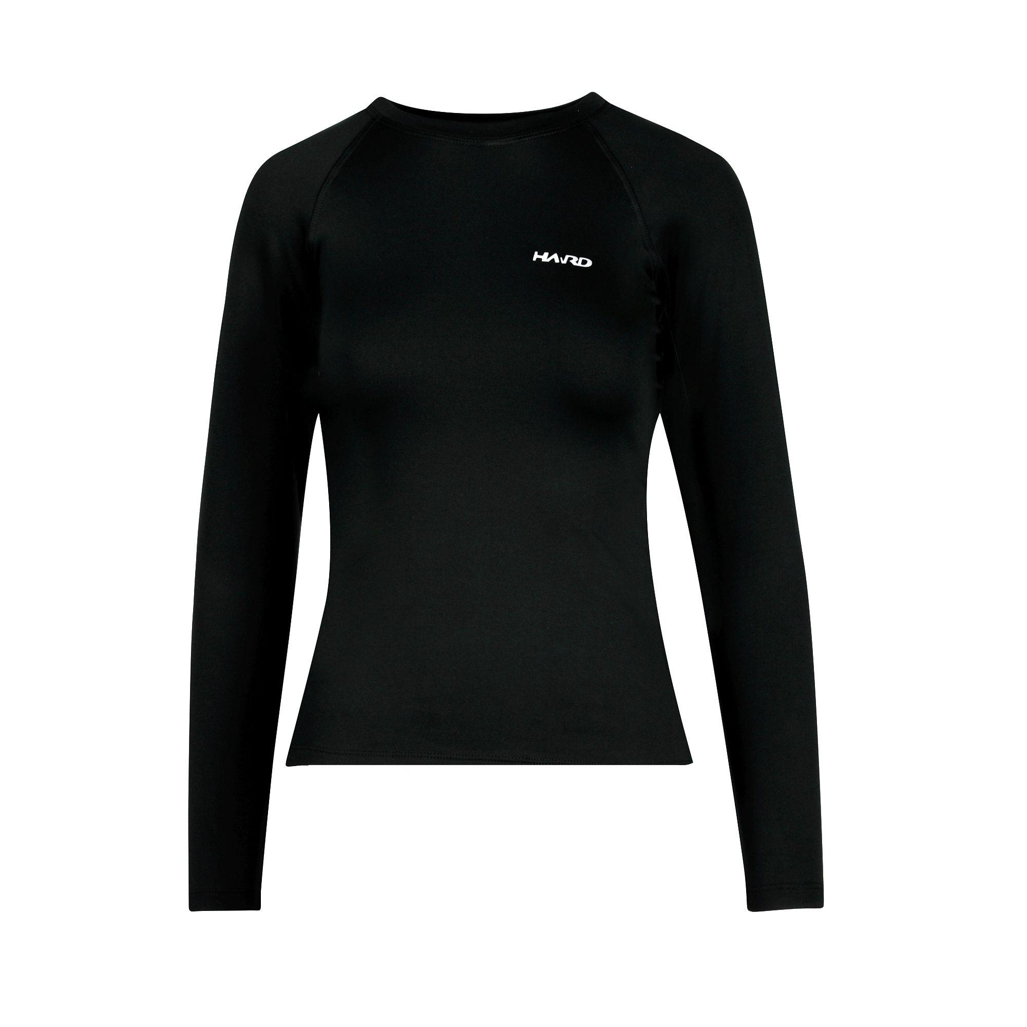 Camiseta Segunda-pele Feminina Hard Mountain Skin - Preta
