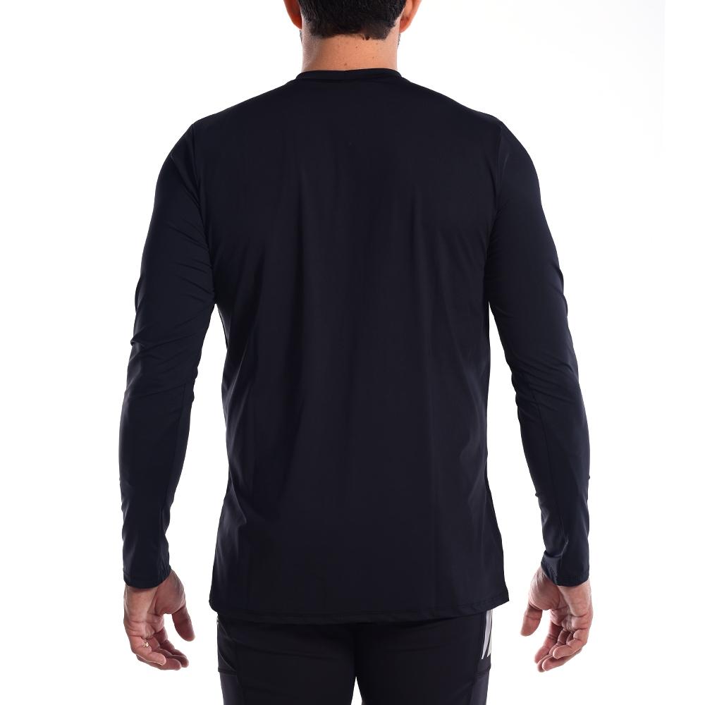 Camiseta UV Hard Adventure SolarPro Manga Longa Masculina Preta