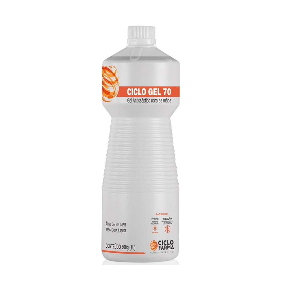 Álcool Gel Ciclo Gel 70% 860g (1Litro) - Ciclofarma