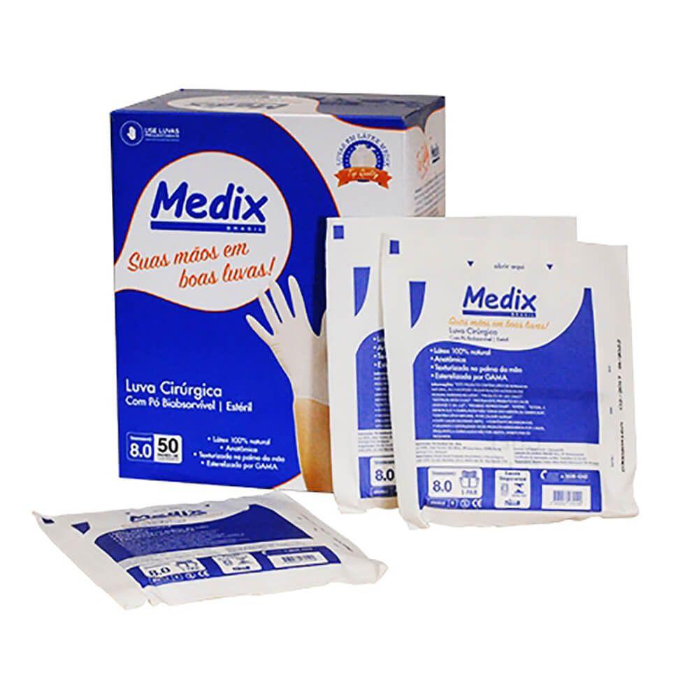 Luva Cirúrgica de Látex Estéril - Medix