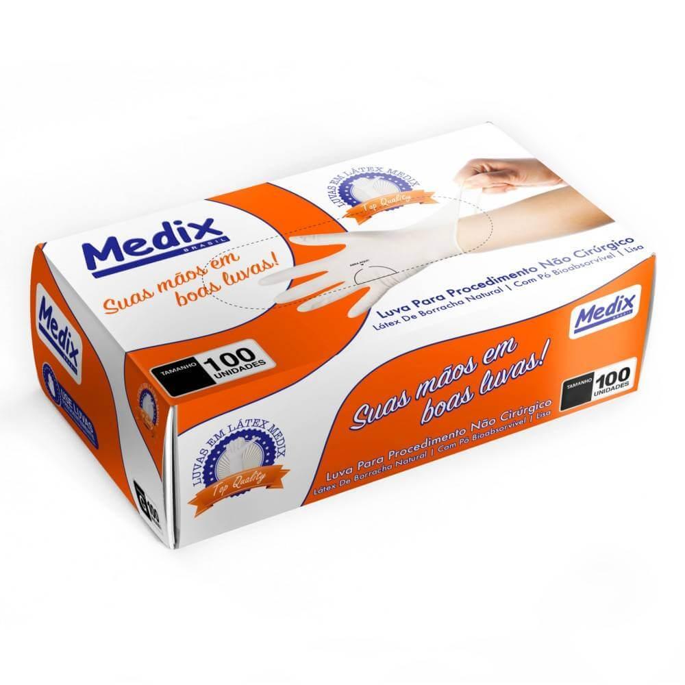 Luva de Látex p/ Procedimentos (Com Pó) - Medix