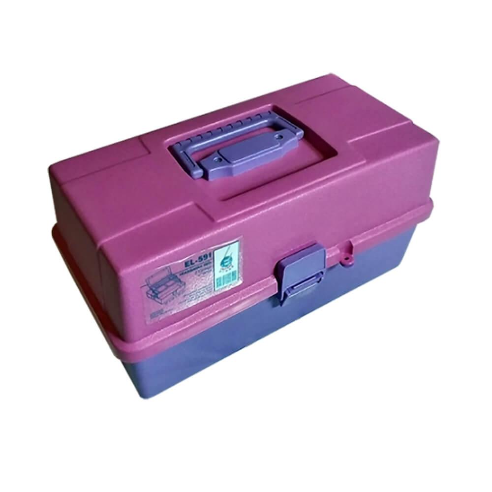 Maleta Organizadora Rosa com 2 Bandejas - Emifran