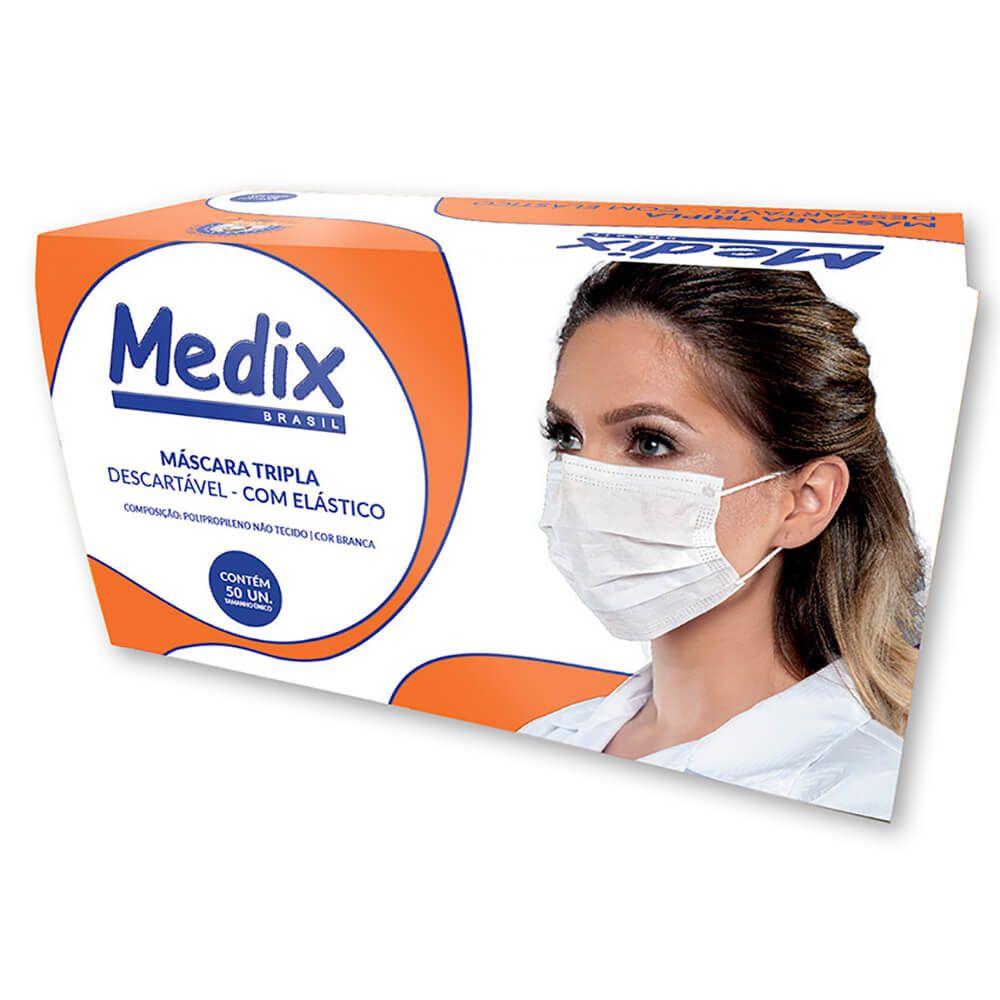 Máscara Tripla com Elástico - Medix