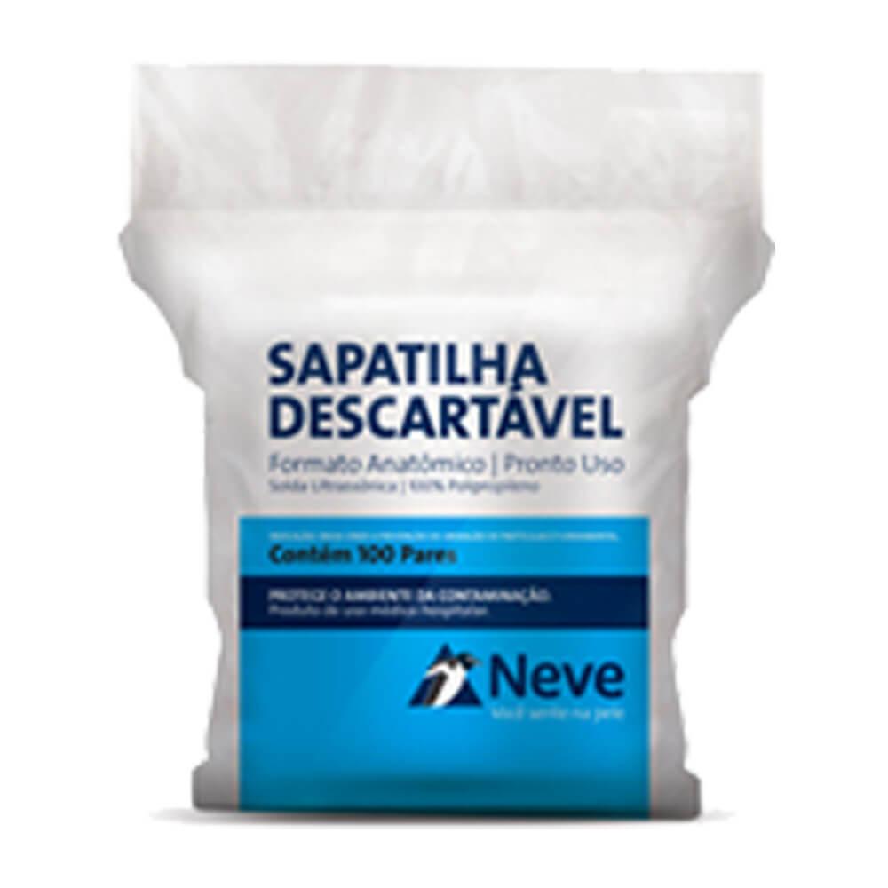 Propé Descartável c/ 100 Pares - Neve