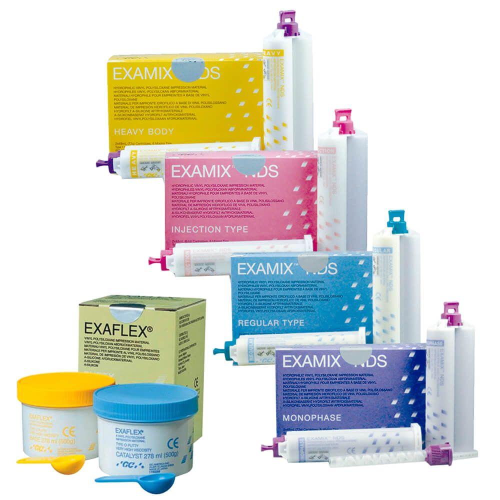 Silicone de Adição Examix NDS e Exaflex - GC
