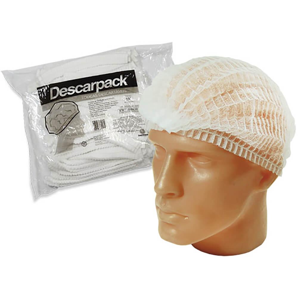 Touca Descartável c/ Elástico c/ 100 - Descarpack