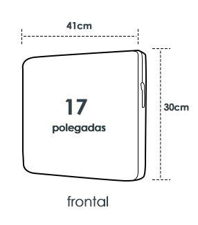 Capa para Notebook 17 polegadas Cat Guitar com ziper