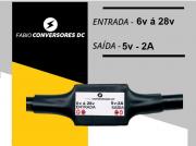 AU 01 (2A) - Conversor DC/DC 12V - 24v para 5V-2A