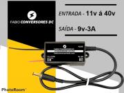 AU 05 (P4)  - Conversor DC/DC 12V - 24v - 36v para 9V-3A com conector P4 macho 5,5x2,1mm