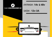 AU 12 - Conversor DC/DC 48V para 12V-3A