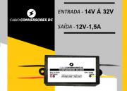 AU 14 (1,5A) - Conversor DC/DC  24v para 12V - 1,5A