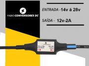 AU 14 (2A)  - Conversor DC/DC 24V para 12V -2A
