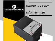 AU 18 (5v) - Conversor DC/DC 24V ou 12V  para 5V-12A