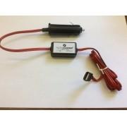 AU 21 - Conversor DC/DC 12V ou 24V para 5V-3A USB fêmea com plug para acendedor de cigarros