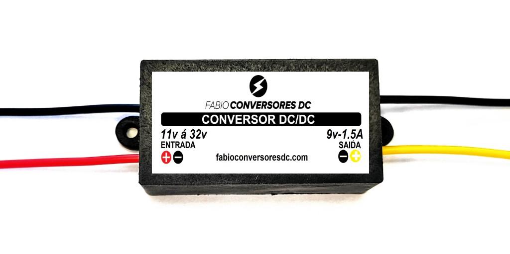 AU 05(1,5A)  - Conversor DC/DC de 12V ou 24V para 9V-1,5A