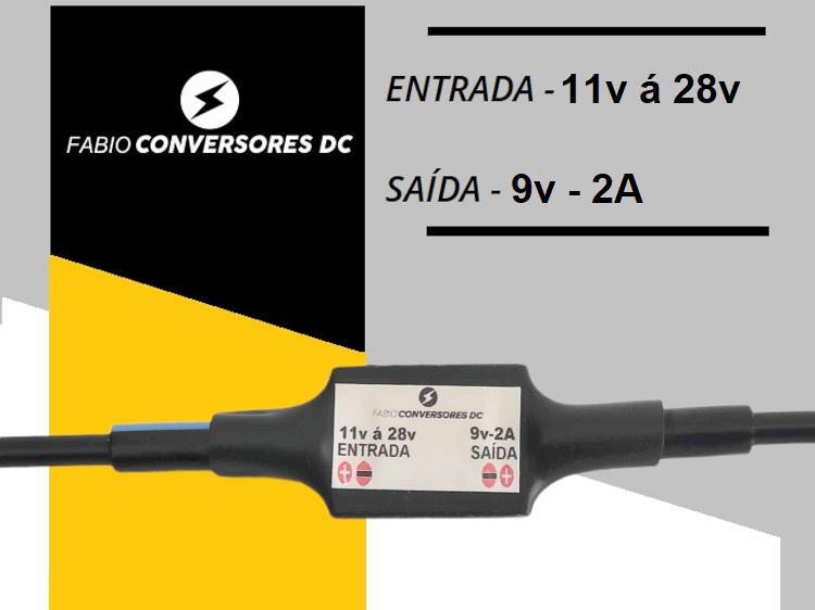 AU 05(2A)  - Conversor DC/DC de 12V ou 24V para 9V-2A