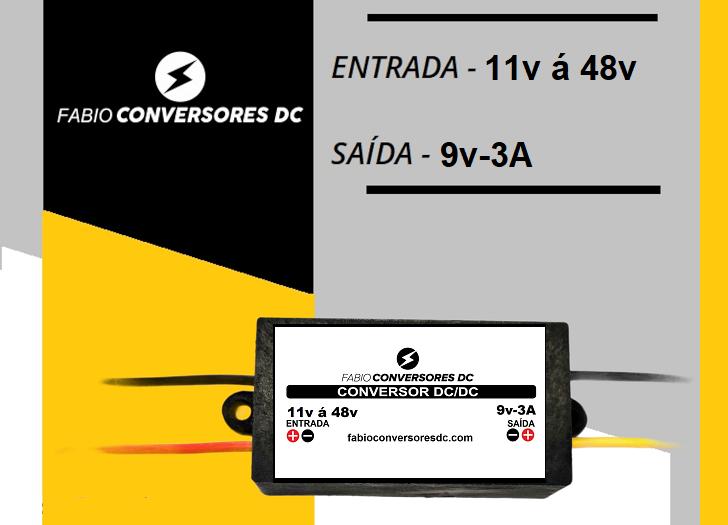 AU 07 - CONVERSOR DC/DC DE 48V PARA 9V-3A