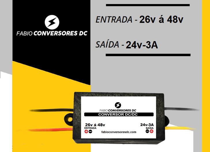 AU 17 - Conversor DC/DC 48V para 24V-3A
