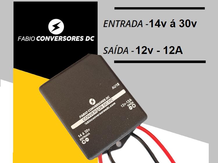 AU 18 - Conversor DC/DC 24V para 12V-12A