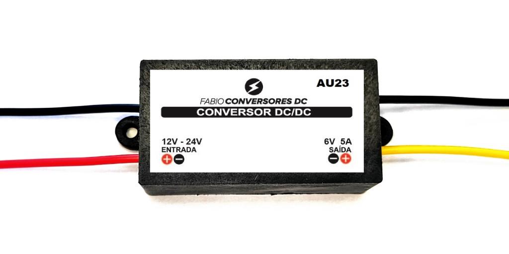 AU 23 - Conversor DC/DC 12V - 24V - 36V para 6V (5A)