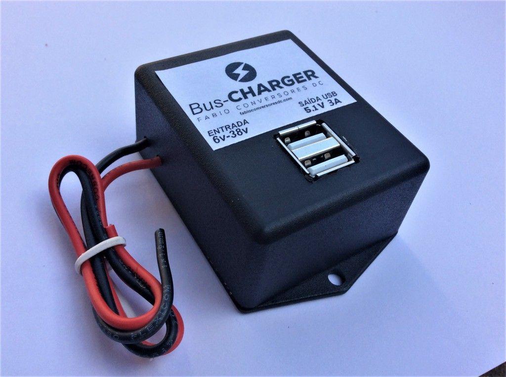 BUS-CHARGER --carregador  celulares e tablets para ônibus , vans e coletivos em geral
