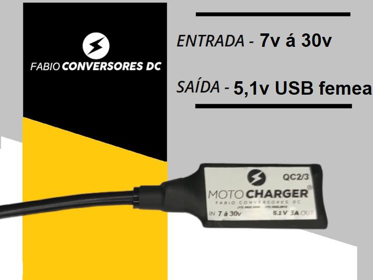 Carregador Turbo Veicular  -carregador Inteligente Qc02-qc03 USB femea