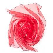 Echarpe Chiffon Colorida 180x55cm - Tomato Red
