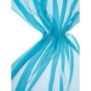 Echarpe Crinkle Chiffon 5 Colorida 180X55cm - Turquoise